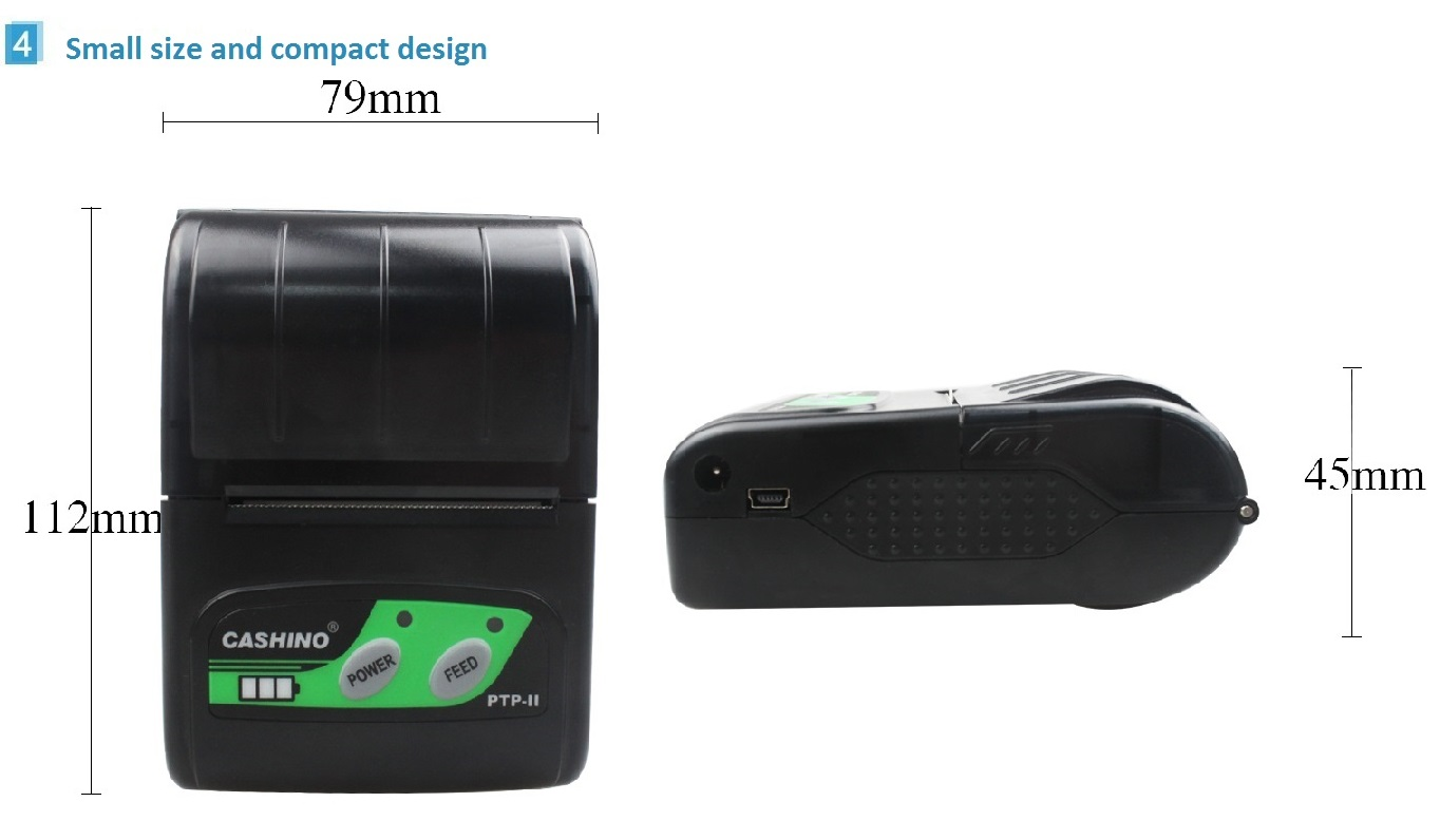 58MM mini mobile thermal receipt printer